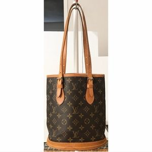 💯Authentic Louis Vuitton Bucket PM Shoulder Bag